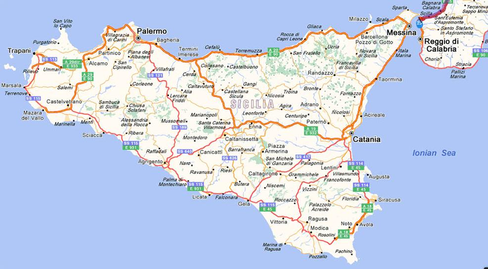 """Résultat de recherche d'images pour """"carte de la sicile"""""""